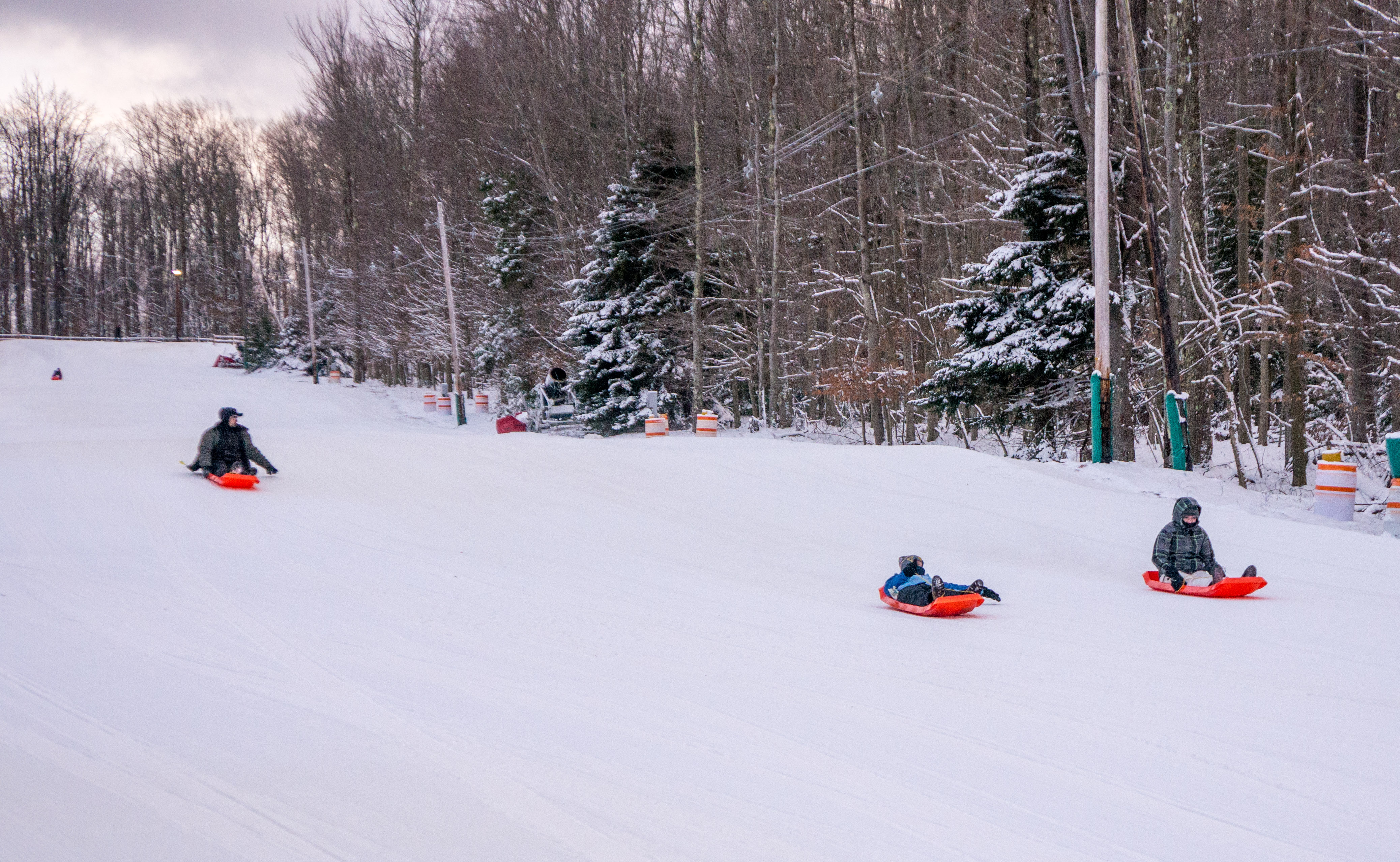 Sledding hill at Blackwater Falls State Park